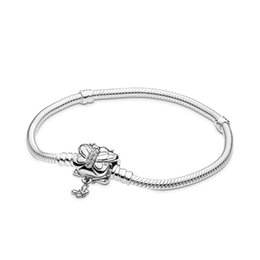 $enCountryForm.capitalKeyWord UK - 2019 Spring Butterfly Classic Real 925 Silver Not Plated Pandora Bracelet Snake Chain Fit European Beads Pandora Bracelets With Logo Stamp