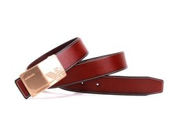 China New Fashion Mens Business Belts Luxury Ceinture Buckle Genuine Leather Belts For Men Waist Belt Free Shipping suppliers