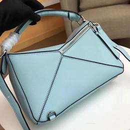 $enCountryForm.capitalKeyWord Australia - 2019 new style fashion high quality genuine leather puzzle bag women shoulder bag geometric handbag evening bag