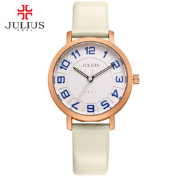 cheap battery free shipping Australia - JULIUS Alibaba Express Ladies Watches Women Dress Ultra Thin Cheap Promotion Round Leather Relogio Free Ship Dropship JA-939