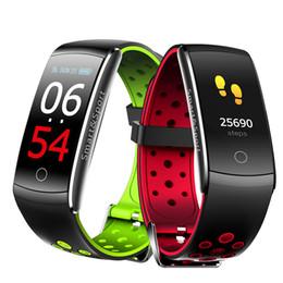 $enCountryForm.capitalKeyWord Australia - Q8S Smart Bracelet Heart Rate Monitor Waterproof Fitness Tracker Bluetooth Watch Band Q8 For Android IOS women men Wristband