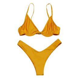 4e16b7ffc5 maillot de bain femme 2019 deux pièces maillot de bain femme femmes solides maillots  de bain push up rembourré tankini push up deux pièces