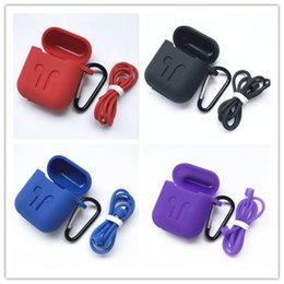 $enCountryForm.capitalKeyWord Australia - 2019 Airpod Protective Airpods Cover link cable Bluetooth Wireless Earphone Silicone Case Waterproof Anti-drop strap Accessories mix color