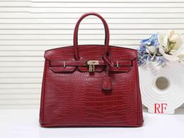 red crocodile handbags 2019 - designer handbags 30cm 35cm Crocodile pattern women designer bags fashion tote purse bag women designer handbags discoun