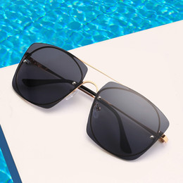 96add6a68 A piece of sunglasses European and American fashion metal trend men and women  sunglasses vintage glasses frame can match myopia glasses