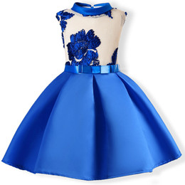 wedding dress for years kids Australia - Baby Girls Clothes 3 5 7 9 10 Years Summer Embroidery Silk Princess Dresses Wedding Party Kids Dress For Toddler Girl Clothes Y19061801