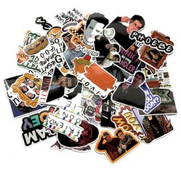 $enCountryForm.capitalKeyWord Australia - 66 pcs Friends tv show fans Pvc waterproof stickers decals for DIY Laptop Skateboard Home wall sticker badges