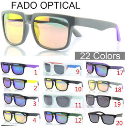 Cat Blocks NZ - Fado Optical Wholesale Designer Spied KEN BLOCK Sunglasses Helm 22 Colors Square Vintage Mens Male Sports Sunglasses