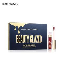 $enCountryForm.capitalKeyWord NZ - Original Brand Beauty Glazed 6 colors Matte Lipstick Lip Kit Gloss Long Lasting Lip Stick Cosmetics 6mini set Brithday Edition kyshadow DHL