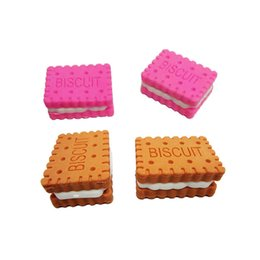 RubbeR eRaseR fRee shipping online shopping - Simulation sandwich cookies rubber eraser removable eraser kawaii stationery school supplies gift toy for kids penil eraser