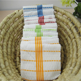 wholesale cotton dishcloth Canada - Household dishcloth kitchen utensils do not touch the oil cleaning towel, do not drop the hair dish towel