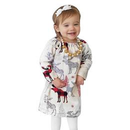 Toddler Deer Australia - good quality Christmas dresses Toddler Kids Baby Girl Cartoon Deer Princess Dress Clothes Outfits roupas infantis menina vestido menin