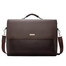 $enCountryForm.capitalKeyWord UK - Famous Brand Business Men Briefcase Leather Laptop Handbag Casual Man Bag For Lawyer Shoulder Bag Male Office Tote Messenger Bag MX190719