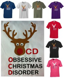 $enCountryForm.capitalKeyWord NZ - OBSESSIVE CHRISTMAS DISORDER   OCD FUNNY T-SHIRT GLITTER REINDEER NOSE S - 5XL Funny free shipping Unisex Casual