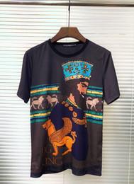 $enCountryForm.capitalKeyWord NZ - T Shirts For Mens Cotton Short Sleeve T-shirt Collar Shirts King And Lion Print autumn summer vogue male amazing fashion 2019 Latest model