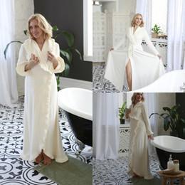 Make kiMono online shopping - Chic Ruffles Long Sleeve Women Winter Sexy Kimono Pregnant Party Sleepwear Women Bathrobe Sheer Nightgown Robe Shawel New