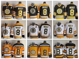 Ingrosso 2010 Winter Classic Boston Bruins # 8 Cam Neely Jersey 75th Anniversary Top Quality Cam Maglia Neely Hockey Vintage nera cucita una toppa