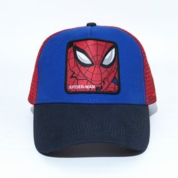 Chinese  MARVEL Hero Baseball Caps Youth Mens Womens Visors Summer Mesh Sun Hats Embroidery Super Hero Casual Cap Fashion Ball Hat manufacturers
