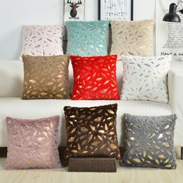 Brown Pillows Australia - Fur Cushion Cover Pillowcases Solid Color Brown White Gray Pink Red Black Decorative Pillows Gold Feather Throw Pillow Covers