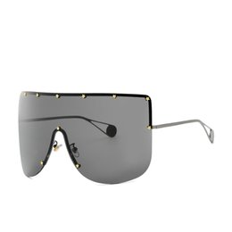 China 2019 Oversize Shield Sunglasses Visor Men Women One Peice Sunny Windproof Mask Sun Glasses Flat Top Hood Goggle sunglasses FML cheap sun shield visor suppliers