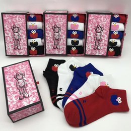 $enCountryForm.capitalKeyWord Australia - Cute Cartoon Ankle Socks with Stamp Women Girls Letter Cotton Socks Mix Color Casual Breathable Socks High Quality