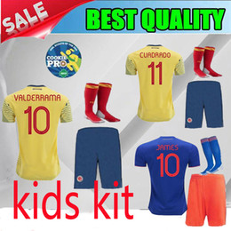 ff02555ae 2019 Colombia Copa America home KIDS KIT soccer jersey yellow james falcao  19 20 Colombia away Sanchez 2020 child Football shirts