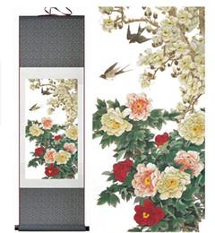 $enCountryForm.capitalKeyWord Australia - Birds And Flower Painting Silk Scroll Painting Chinese Painting