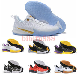 Kobe men basKetball shoes online shopping - 2019 New Kobe Mamba Focus EP Basketball Shoes High Quality Black White Athletic Sports Trainers Mens Designer Sneakers Size