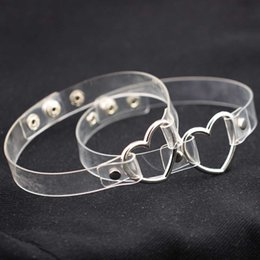 $enCountryForm.capitalKeyWord Australia - Metal Love Heart O Ring Choker Necklace Pu Transparent Collar Necklet For Women Slaves Play Chokers Jewelry Drop Shiping