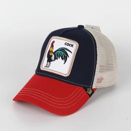 Venta al por mayor de Sombrero del camionero del verano con Snapbacks y bordado animal para las mujeres para hombre de los adultos / las gorras de béisbol curvadas ajustables / la visera del diseñador