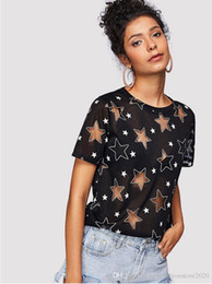 designers for clothes UK - Hot Summer Designer T Shirts For Women Fashion Hollow Out T Shirt Mens Clothing Italy LuxuryT Brand Short Sleeve Tshirt Women Tops