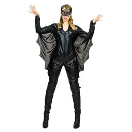 supergirl cosplay costumes NZ - Purim Holiday Bat woman Costume Black Appeal Lingerie Bat Fancy Bat women Cosplay Halloween Supergirl Bodysuit