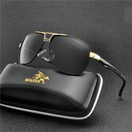c12688863d3 2019 Men s pilot Polarized Sunglasses Square Driving Car Sun Glasses Men  Women Anti-glare Glasses Luxury Brand Designer UV FML