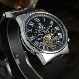 Watches Luxury Skeleton Man Australia - Forsining Creative Watch Roman Number Men Calendar Roman Tourbillion Men Watch Brand Luxury Automatic Skeleton Wristwatch SLZb82