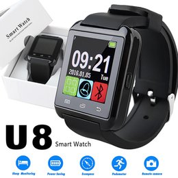screen watch cell phone 2019 - U8 Smart Watch Touch Screen Wrist Watches with Sleeping Monitor for iPhone 7 6 Samsung S8 Android IOS Cell Phone