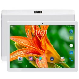 2gb ram gps tablet Canada - Free shipping Android 9.0 Quad Core 10 inch Tablet PC 2GB RAM 64GB ROM 5MP WIFI A-GPS 4G LTE 2.5D Tempered Glass IPS 1280*800