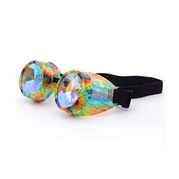 Chinese  Multicolor Kaleidoscope Glasses Rave Festival Party EDM Eyewear Diffracted Lens Halloween carnival Sunglasses Cosplay Fashion Goggles ZZA666 manufacturers