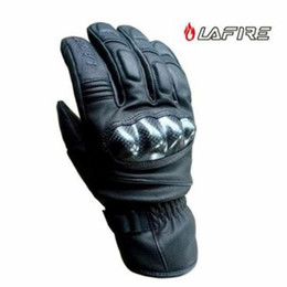 Men Gloves Leather Sheepskin Australia - 2018 Winter New Waterproof Warm LAFIRE Motorcycle Glove Windproof Carbon fiber sheepskin Leather Motorbike Gloves Anti-fall