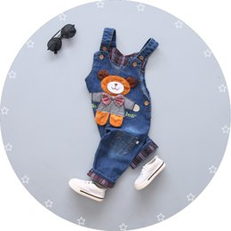 kids denim overalls Australia - Baby Pants Spring Autumn Baby Boys Girls Overalls Pants Kids Boys Denim Bib Toddler Girls Jeans Jumpsuit Clothes