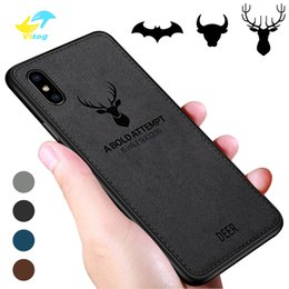 Fit bull online shopping - Cloths Pattern PC TPU Case For iphone xs x xr samsung S10 PLUS Cloth Cover Elk Deer Bull Bat phone cases covers