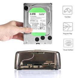 sata ide hard drive adapter Australia - Transparent 2.5 3.5 Inch Universal External Hard Drive Base for SATA IDE Serial Port New Arrival