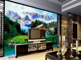 Beautiful Modern Bedding Australia - custom size 3d photo wallpaper living room bed room mural Summer Village Beautiful view picture sofa TV backdrop wallpaper non-woven sticker