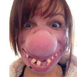 $enCountryForm.capitalKeyWord Australia - 2019 Funny Adult Party Mask Latex Clown Cosplay Half Face Horrible Scary Masks Masquerade Halloween Party Decor Halloween