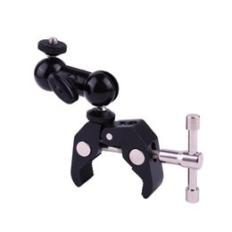 Lcd monitor mounting online shopping - Cool Ball Head Adapter Arm Super Clamp Mount Multi function with Bottom Clamp For DJI Ronin Gimbal DSLR Camera LCD Monitor