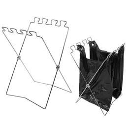 $enCountryForm.capitalKeyWord Australia - folding garbage bag holder Trash Bags Holder Stand Waste Sorting Bin Portable Fold Up Can storage racks for Bedroom Kitchen