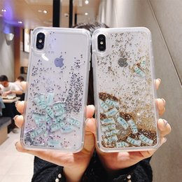 Cell Phone Cases For Cheap Australia - IPhone X XR XS Max Creative Messy Sandmobile Cell Phone Cases Drop-proof Transparent Quicksand Phone Case for iPhone 6 7 8 Plus Cheap