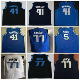 2019 Cheap 77  Luka Doncic City  41 Dirk Nowitzki 5  Jason Kidd Shirt  Suture Jersey Stitched Top Quality bdaf4b794