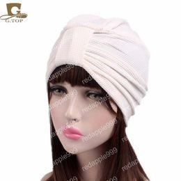 $enCountryForm.capitalKeyWord Australia - New women luxury knotted Turban Hat Stylish Chemo cap skullies Indian cap chemo bandana Wrap cancer hat Chemo Hair Loss cap