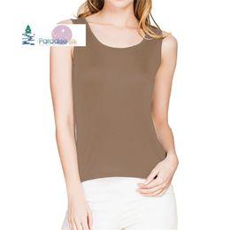 Xxl Knitting Shirt Australia - Special Offer Women's Tank Top 100% Natural Silk Knit Women's O-neck Tee Shirt Sleeveless Basic Top Size M L Xl Xxl Y19042801
