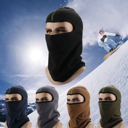 TacTical hiking haT online shopping - Winter Hat Thicker masks Warm Hat Fleece Cycling Caps motorcycle Skiing Sport Windproof cap Tactical mask ZZA902